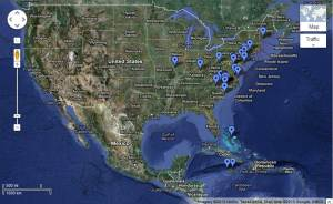 This map shows the various places that I went (mostly with my wife) from 2007-2010 (before pregnancy).