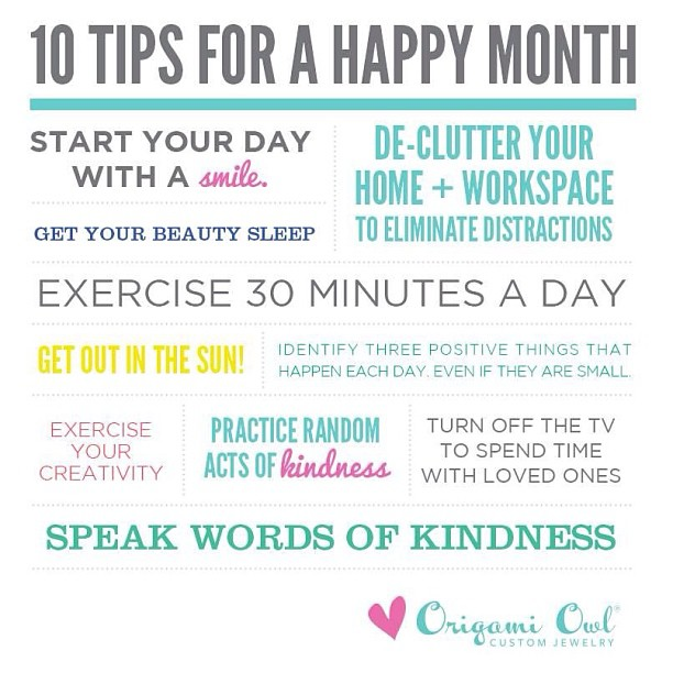 10 Tips for a Happy Month